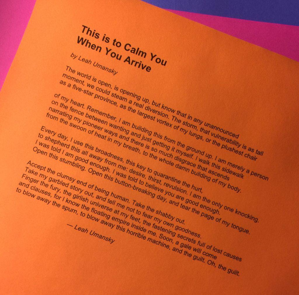 Leah Umansky: Poet, Creator of COUPLET_Series, SuperFan Game