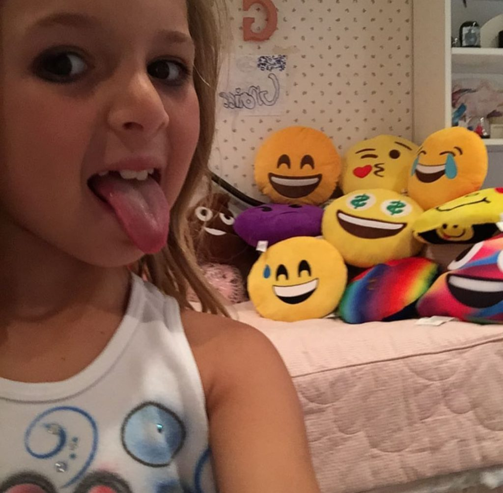 Selfie: Grace as Emoji